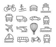 Transporte los iconos Foto de archivo libre de regalías