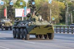 Transporte militar após Victory Parade Fotos de Stock Royalty Free