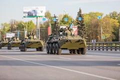 Transporte militar após Victory Parade Imagens de Stock Royalty Free