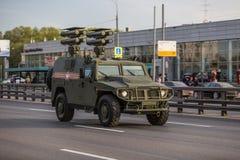 Transporte militar após Victory Parade Imagem de Stock