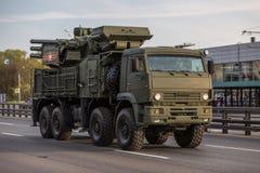 Transporte militar después de Victory Parade Imagenes de archivo