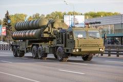 Transporte militar después de Victory Parade Imágenes de archivo libres de regalías