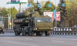 Transporte militar después de Victory Parade Fotos de archivo