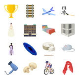 Transporte, mina, espaço e o outro ícone da Web no estilo dos desenhos animados Mobília, esporte, ícones do casamento na coleção  Fotos de Stock