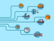 Transporte mundial e serviço movente Foto de Stock