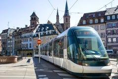 Transporte na rua as cidades de Strasbourg Imagem de Stock