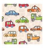 Transporte no estilo dos desenhos animados Fotografia de Stock Royalty Free
