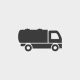 Transporte o ícone em um projeto liso na cor preta Ilustração EPS10 do vetor ilustração royalty free