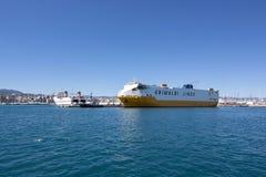 Transporte o Europa grandioso Palermo Palma do navio foto de stock