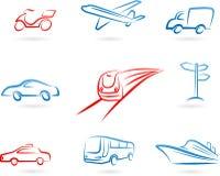 Transporte o jogo do ícone do conceito Fotos de Stock Royalty Free
