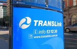 Transporte público Brisbane Australia del autobús de Translink foto de archivo libre de regalías