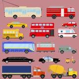 Transporte, transporte público, carros, caminhões Imagem de Stock Royalty Free