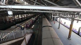 Transporte público en Bombay almacen de video