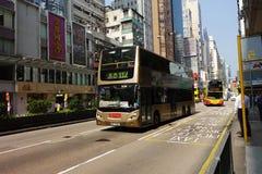 Transporte público en la calle en Hong Kong Foto de archivo