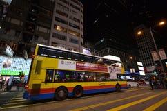 Transporte público en la calle en Hong Kong Fotos de archivo