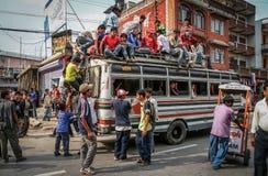 Transporte público en Nepal Imágenes de archivo libres de regalías