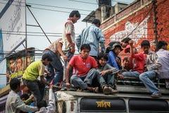 Transporte público en Nepal Fotografía de archivo