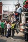 Transporte público en Nepal Imagenes de archivo