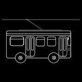 Transporte público municipal da cidade do ônibus bonde Fotografia de Stock