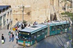 Transporte público no Jerusalém, Israel Fotografia de Stock