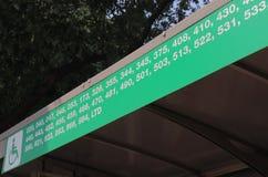 Transporte público Nueva Deli la India del autobús Fotografía de archivo libre de regalías