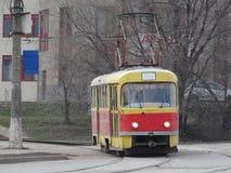 Transporte público respetuoso del medio ambiente y seguro Imagenes de archivo
