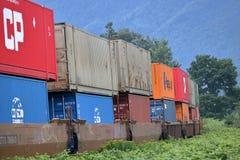 Transporte pacífico canadense dos carros Railway Imagem de Stock Royalty Free