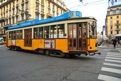 Transporte público en la ciudad de Milán, Italia Imágenes de archivo libres de regalías
