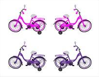 Transporte por carretera: las cuatro bicicletas de los niños Imágenes de archivo libres de regalías