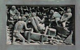 Transporte por el agua de los mármoles para la catedral Fotografía de archivo libre de regalías