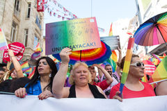 5 Transporte Pride March em Istambul Imagem de Stock Royalty Free