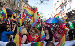 5 Transporte Pride March em Istambul Fotos de Stock