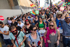 5 Transporte Pride March em Istambul Fotografia de Stock
