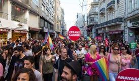 5 Transporte Pride March em Istambul Imagem de Stock