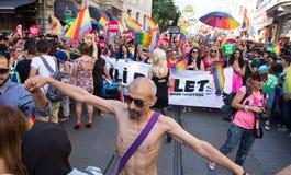 5 Transporte Pride March en Estambul Fotografía de archivo