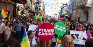 5 Transporte Pride March en Estambul fotografía de archivo libre de regalías