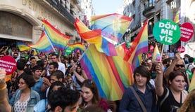 5 Transporte Pride March en Estambul imagenes de archivo