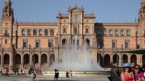 Transporte puxado a cavalo no palácio espanhol vídeos de arquivo