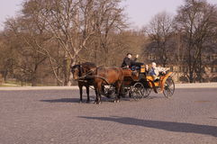 Transporte puxado por cavalos Imagens de Stock Royalty Free