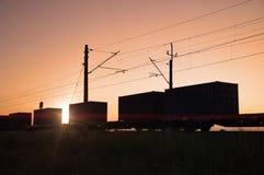 Transporte Railway da carga Foto de Stock Royalty Free