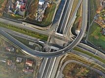 Transporte rodoviário - uma estrada de alta velocidade foto de stock royalty free