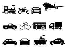 Transporte sólido de los iconos stock de ilustración