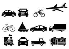 Transporte sólido de los iconos libre illustration