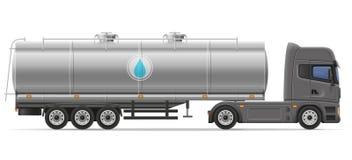 Transporte semi o reboque com o tanque para transportar o mal do vetor dos líquidos ilustração stock
