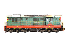 Transporte. trem isolado no branco Foto de Stock Royalty Free