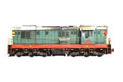 Transporte. tren aislado en blanco Foto de archivo libre de regalías