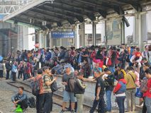 Transporte urbano de Jakarta imagen de archivo libre de regalías