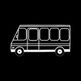 Transporte urbano do ônibus mini Fotografia de Stock
