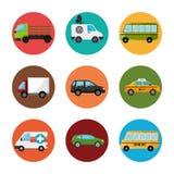 Transporte urbano e veículos ilustração royalty free