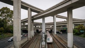 Transporte urbano en América imagen de archivo